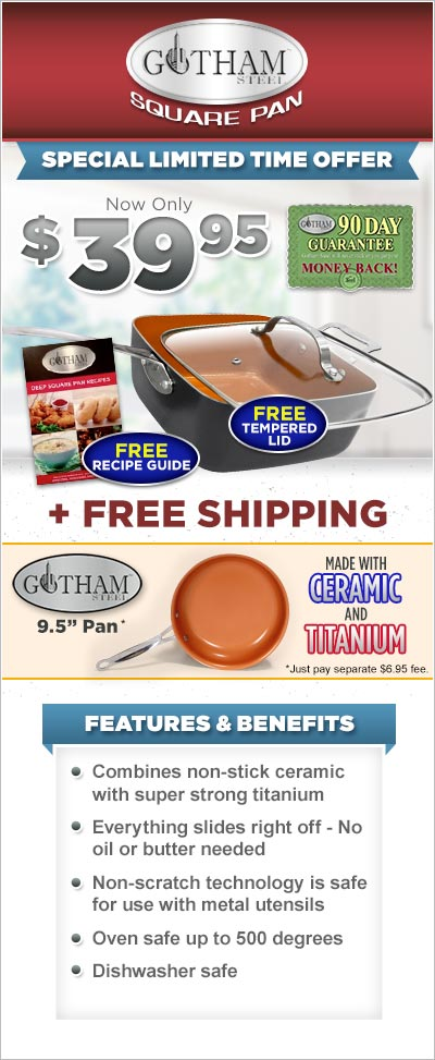 Order Copper Gotham™ Steel Square Pan Now!